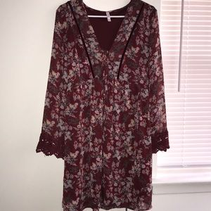 Xhilaration Bell Sleeve Dress